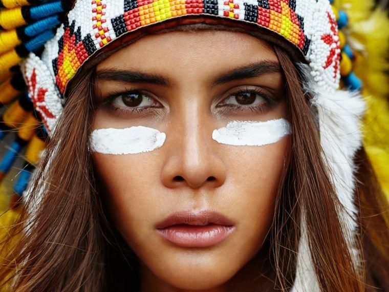 como pintarse los ojos-cara-india-carnavales