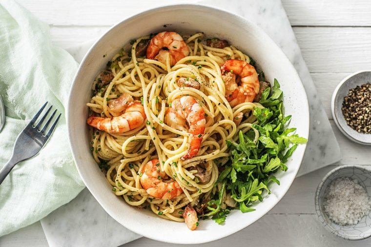 como preparar espagueti-gambas-casa