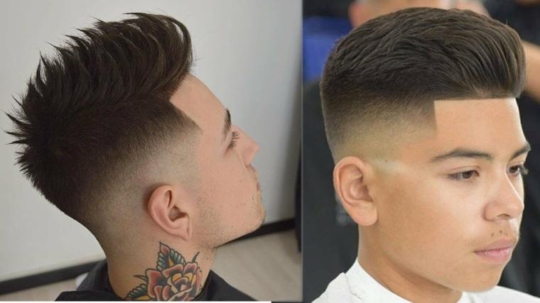cortes de pelo para hombre-moderno-fade