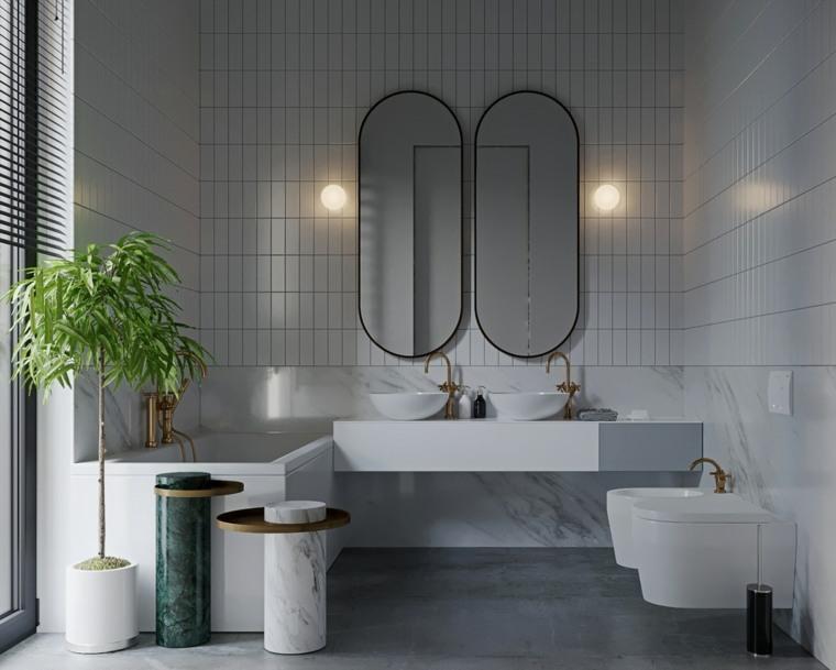 cuartos de bano-blanco-gris-decorar