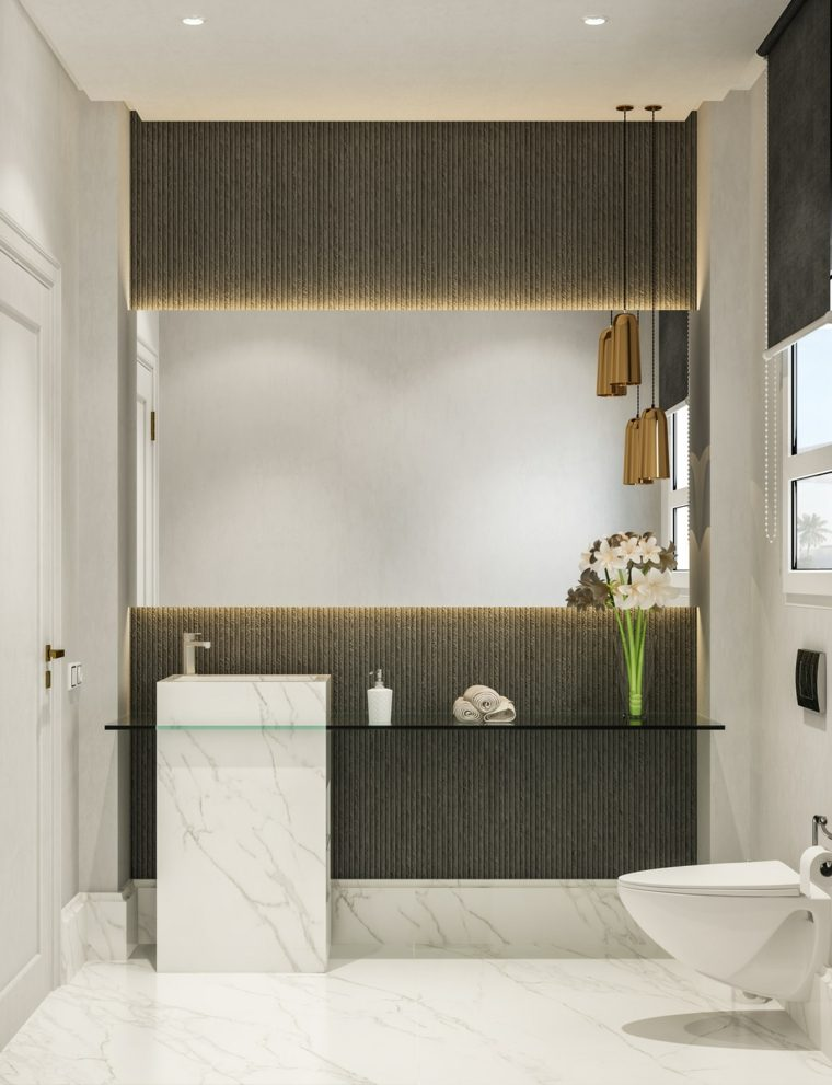 cuartos de bano-decorados-gris-blanco