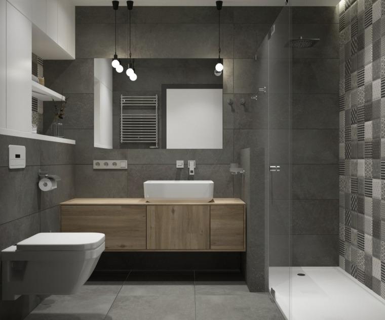 Cuartos de baño en blanco y gris, unos diseños con ...