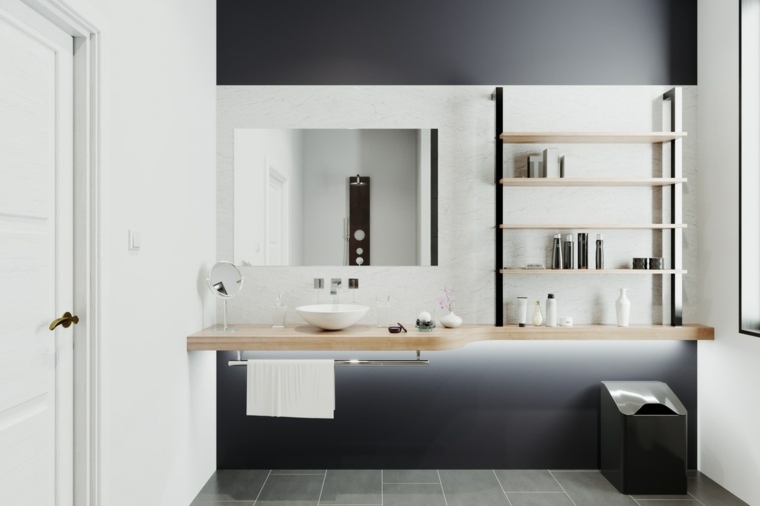 cuartos de bano-modernos-decorados-blanco-gris