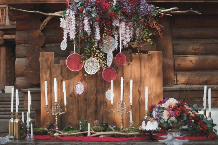 decoracion-boda-estilo-bohemio-flores-velas
