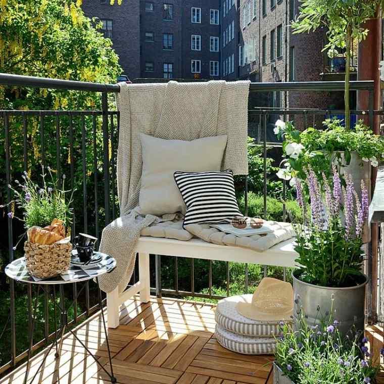 decoracion de casas pequenas-terraza-primavera