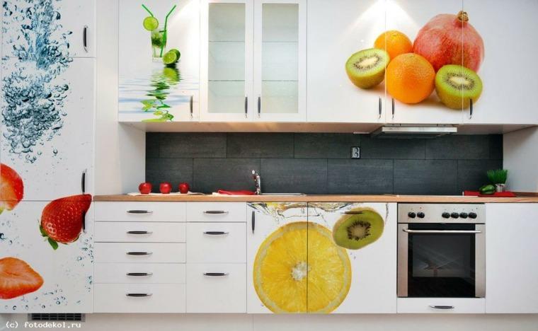 decoracion de cocinas modernas-azulejos-frutas