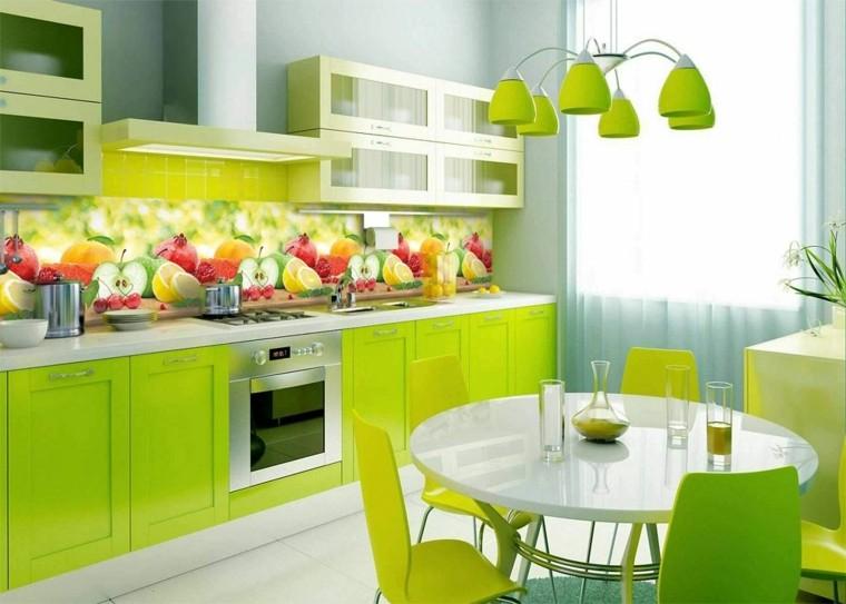 decoracion de cocinas modernas-motivos-frutales