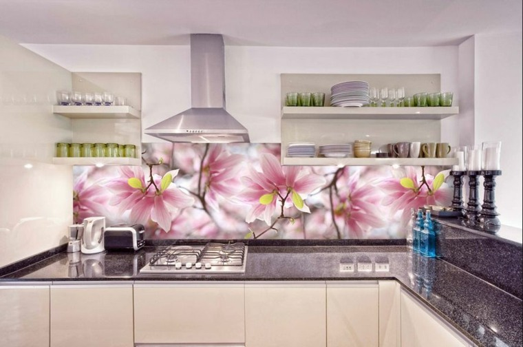 Decoracion de cocinas modernas con paneles de pared para el salpicadero - Paneles para cocinas ...