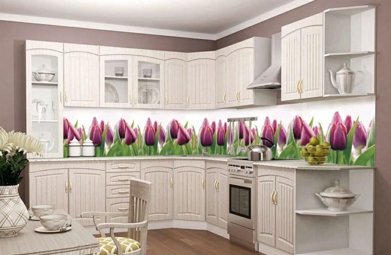 decoracion de cocinas modernas-tulipanes-salpicadero