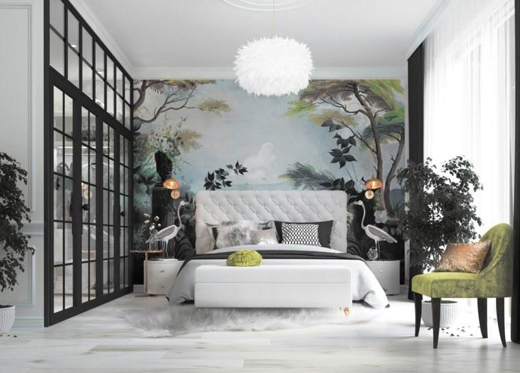 decoracion de interiores de casas-dormitorios-primavera