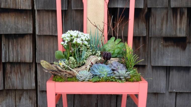 decoracion de macetas-materiales-reciclados-jardin