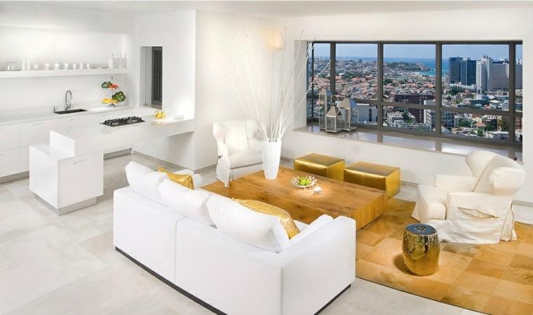 decoracion interior-moderna-acentos-dorados