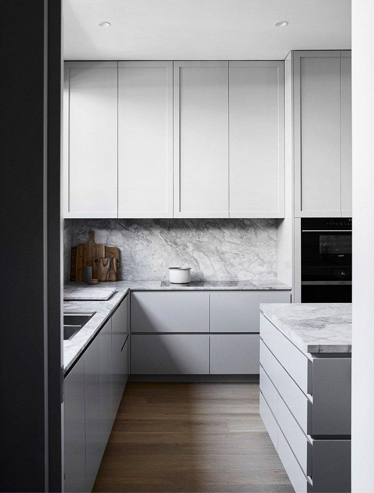 decoración para cocinas estilo-minimalista-salpicadero-marmol