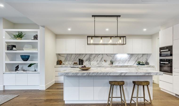decoración para cocinas ideas-espacio-diseno-blanco