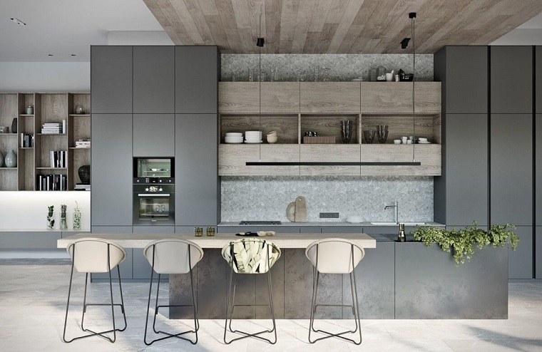 decoracion-para-cocinas-salpicadero-marmol-muebles-color-gris