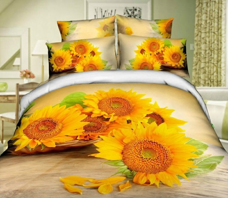 decoraicon con flores-girasoles-interior