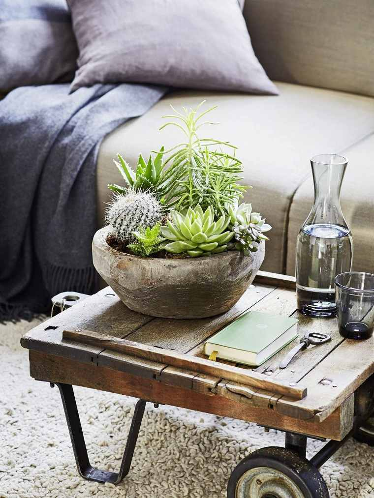 decorar-mesa-salon-plantas-ideas