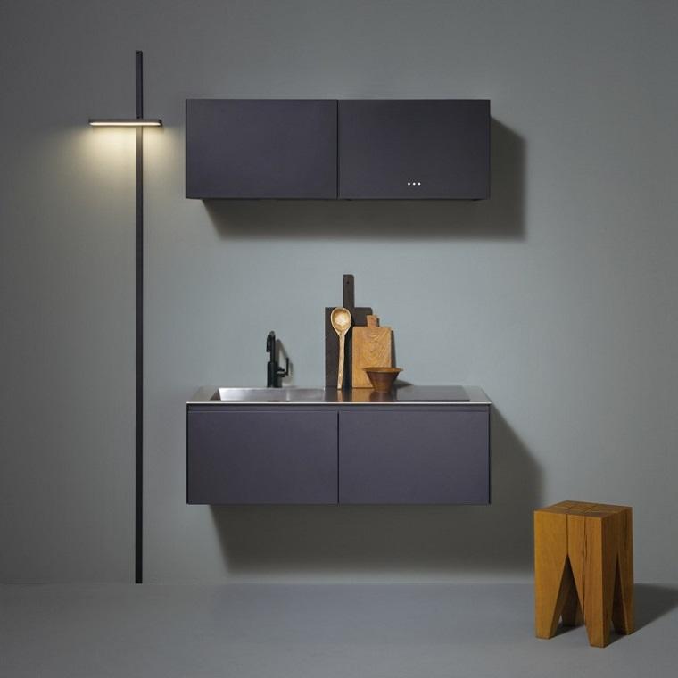 diseños de cocinas minimalistas asientos