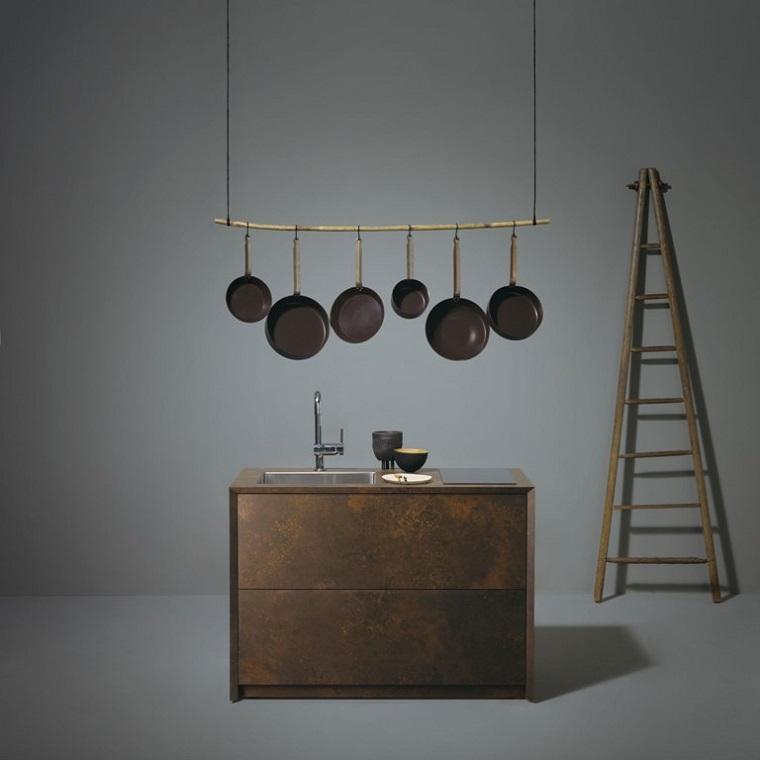 diseños de cocinas minimalistas modernas
