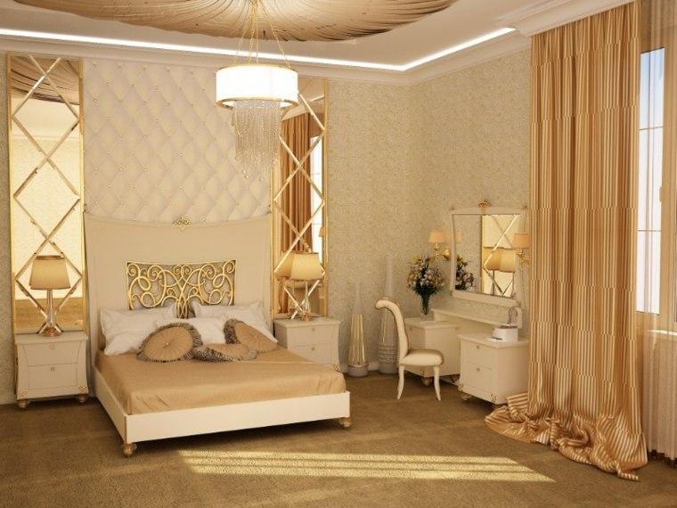 diseno de interiores dormitorios-acentos-dorados