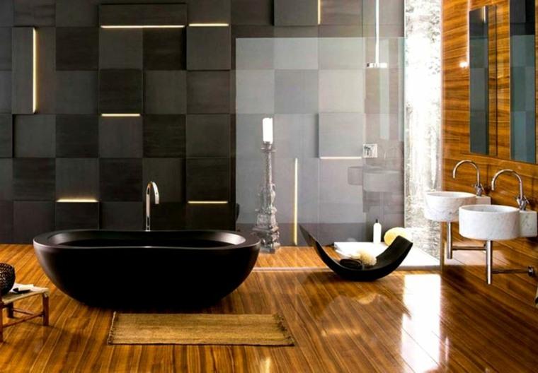diseno de interiores dormitorios-banos-acentos-dorados