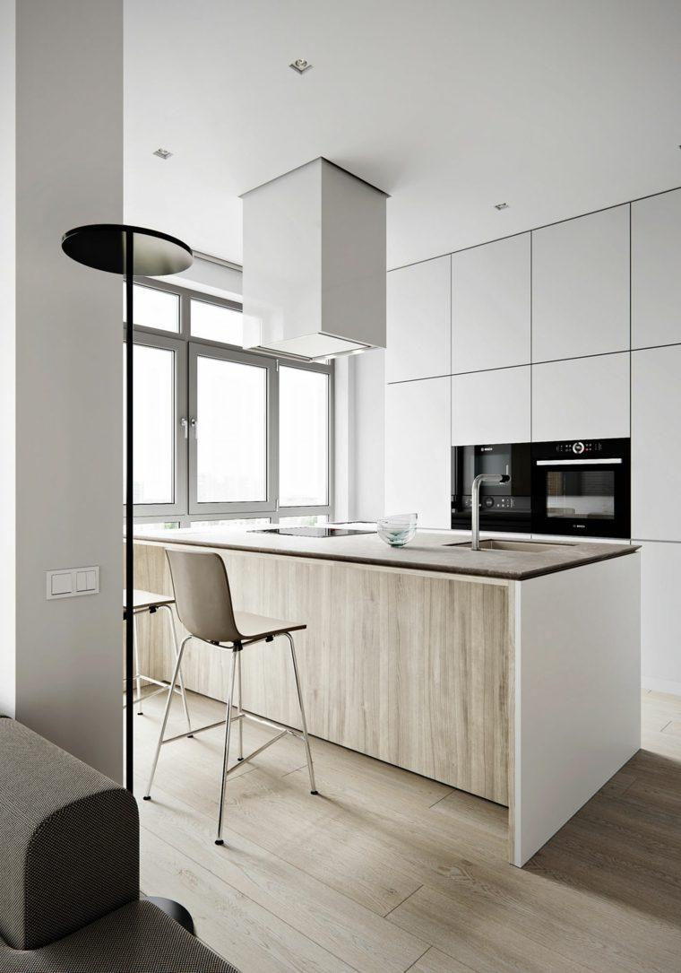 diseño interiores-moderno-cocina-blanco-madera