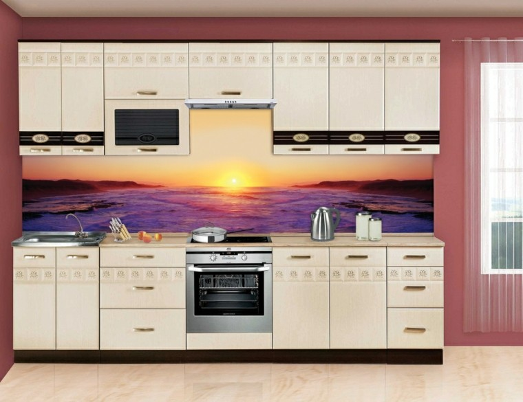 disenos de cocinas modernas-paisaje-salpicadero