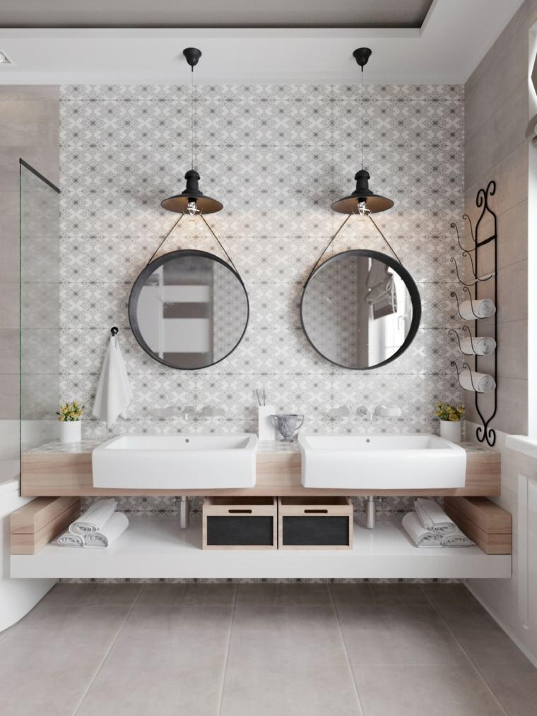 disenos para banos-modernos-blanco-gris
