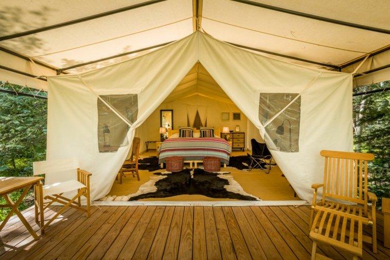 fotos de ideas de diseño de porche trasero Camping De Lujo O Glamping En Tu Patio Trasero Ideas Para