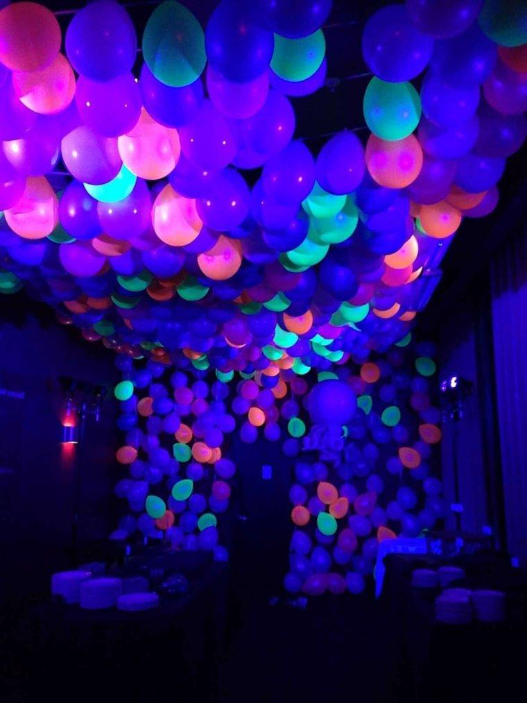Ideas de decoración fluorescente para tu fiesta de cumpleaños -