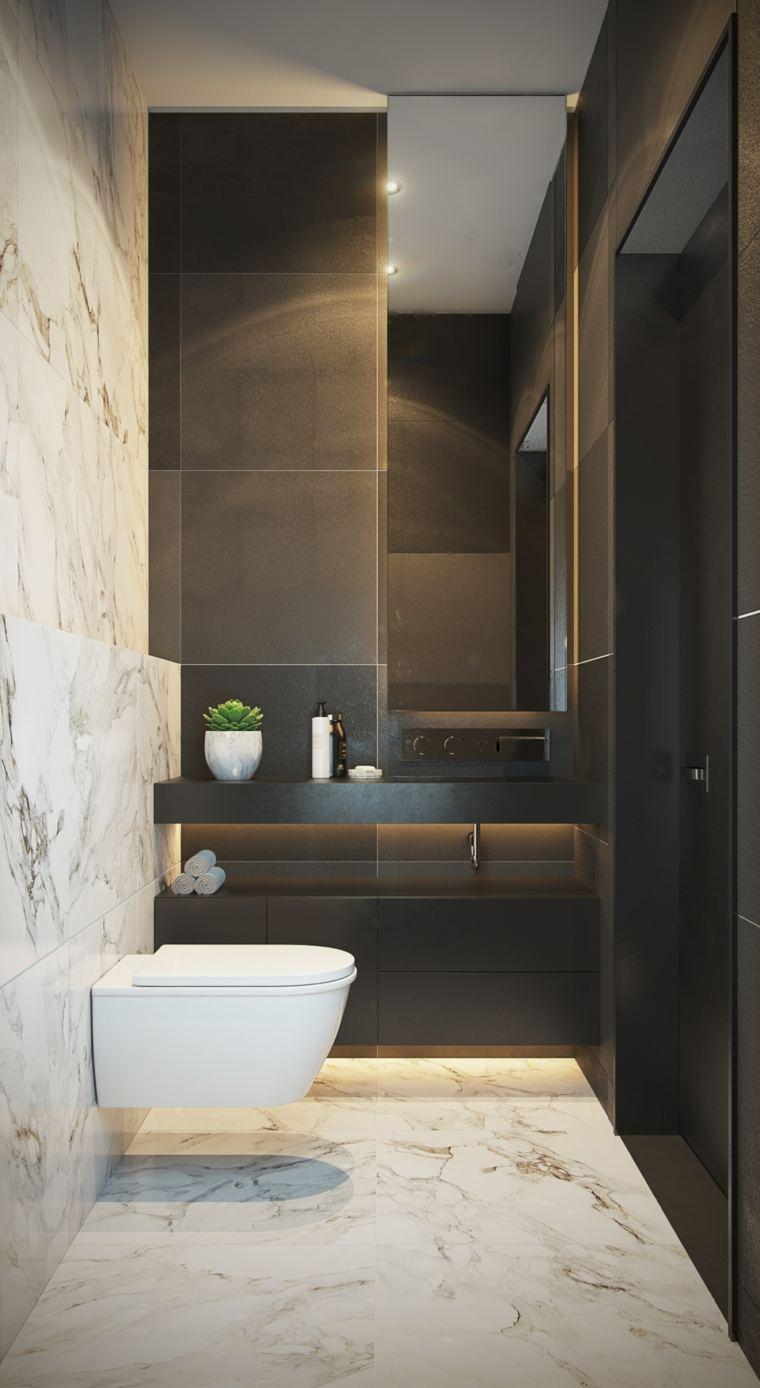 ideas para banos-decorados-blanco-gris