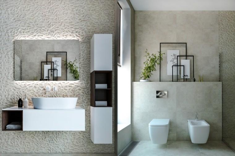 ideas para banos-modernos-blanco-gris