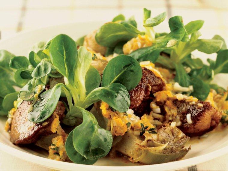 ideas para hacer de comer-ensalada-higado