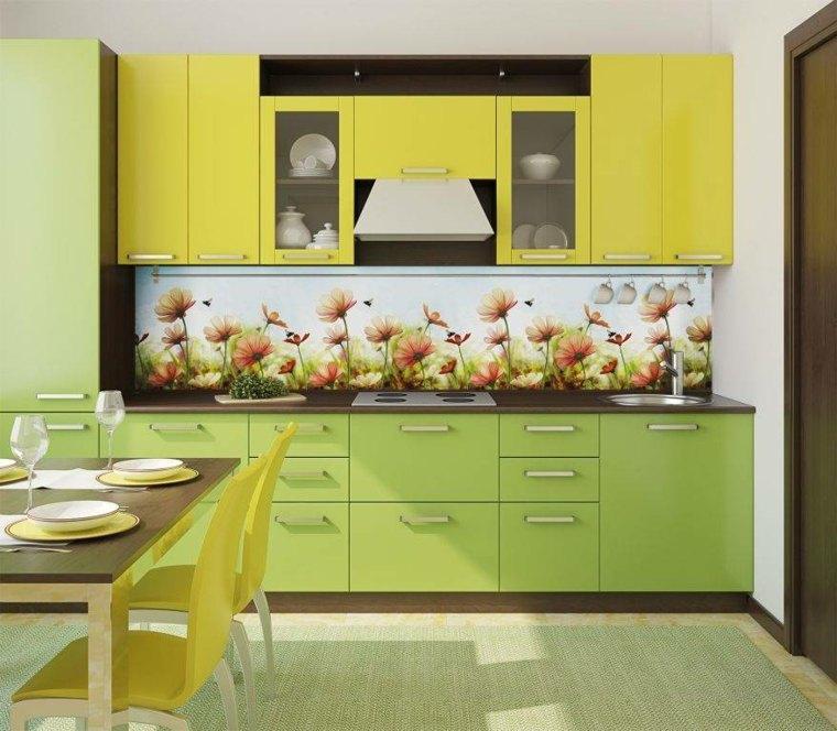 imagenes de cocinas-salpicaderos-florales