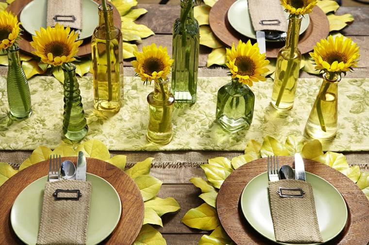 imagenes de girasoles-decoracion-mesa