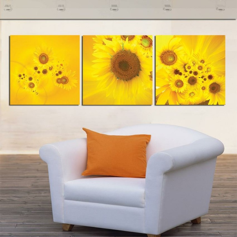 imagenes de girasoles-decorar-paredes