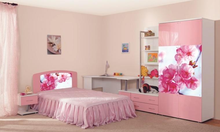 interiores de casas bonitas-habitaciones-primavera
