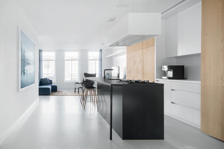 isla-negra-armarios-muebles-madera-cocina