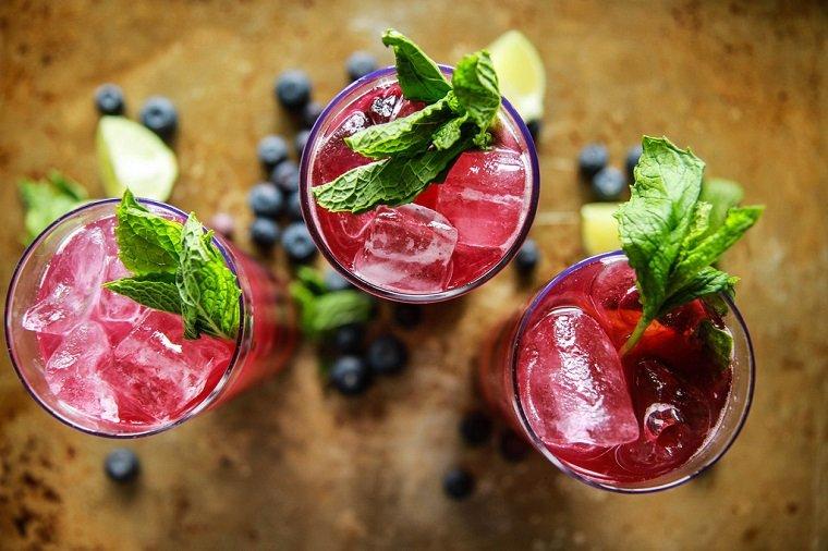 las mejores recetas de cócteles-mojito-arandanos-ideas