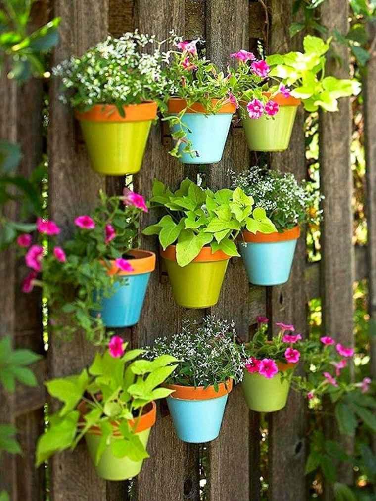 macetas originales-colores-decorar-jardin