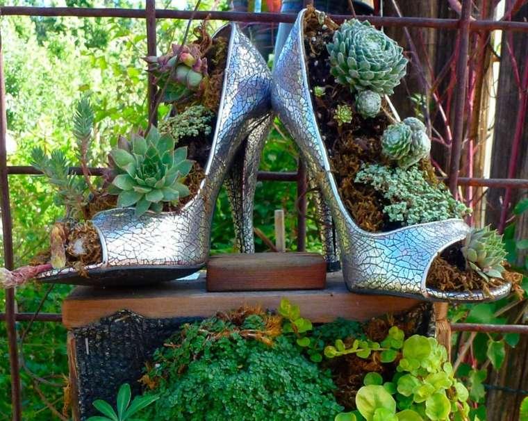 macetas originales-zapatos-tacon-decorar