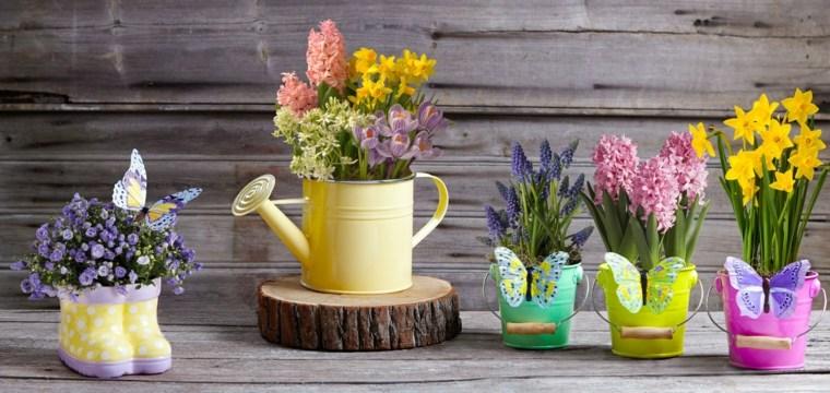 macetas pintadas-decoracion-jardines