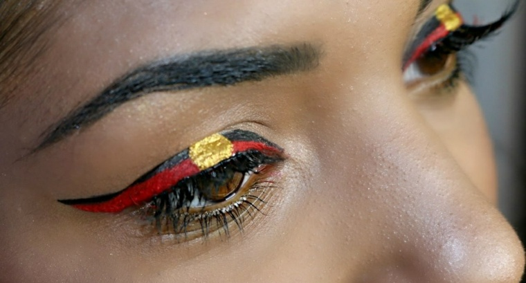 maquillaje de ojos-indigena-carnaval