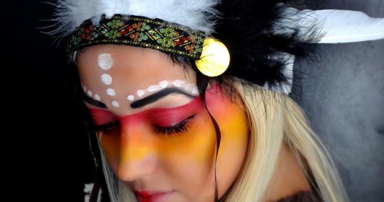 maquillaje de ojos-indio-carnaval