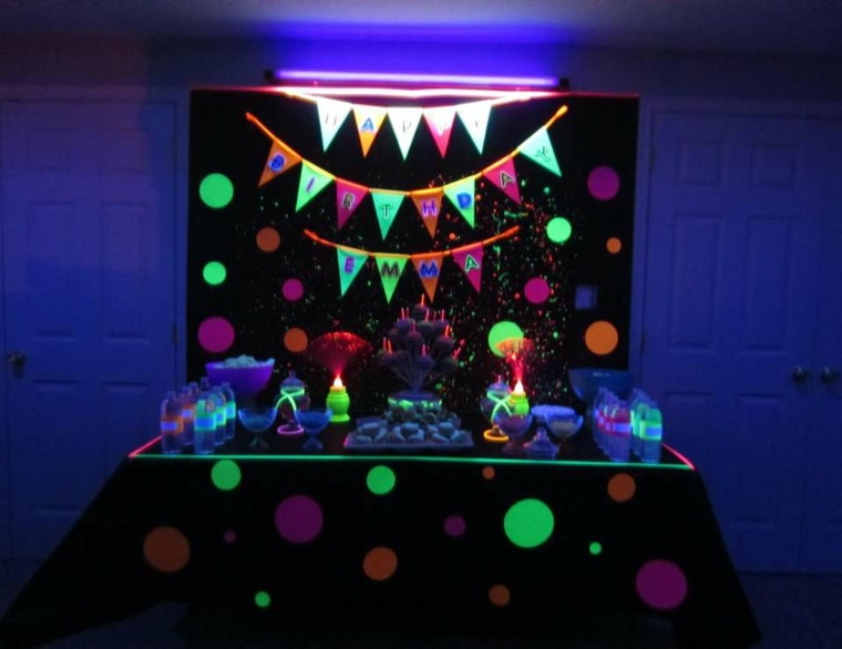 Ideas De Decoraci 243 N Fluorescente Para Tu Fiesta De