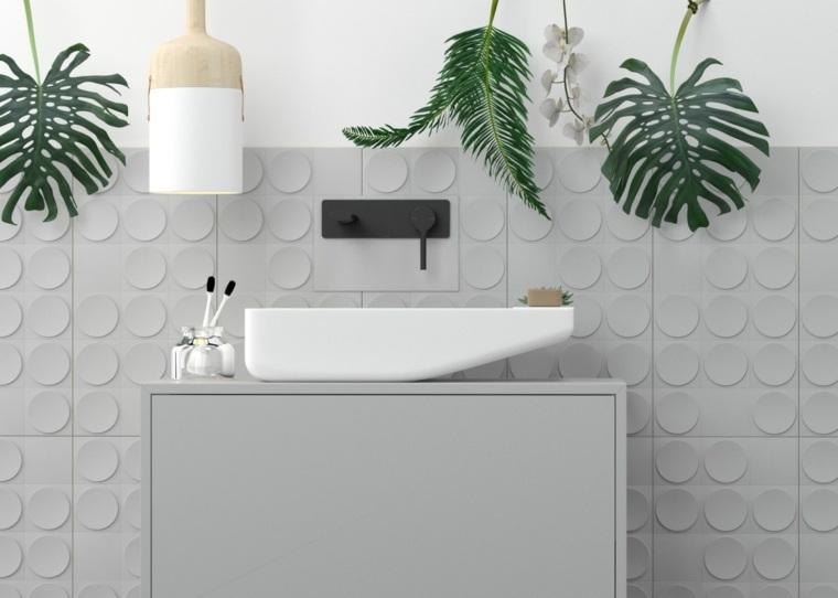 Cuartos De Baño En Blanco Y Gris Unos Diseños Con