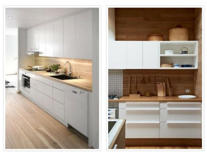 Modelos de cocinas con salpicadero de madera en diferentes - Acabados de cocinas ...