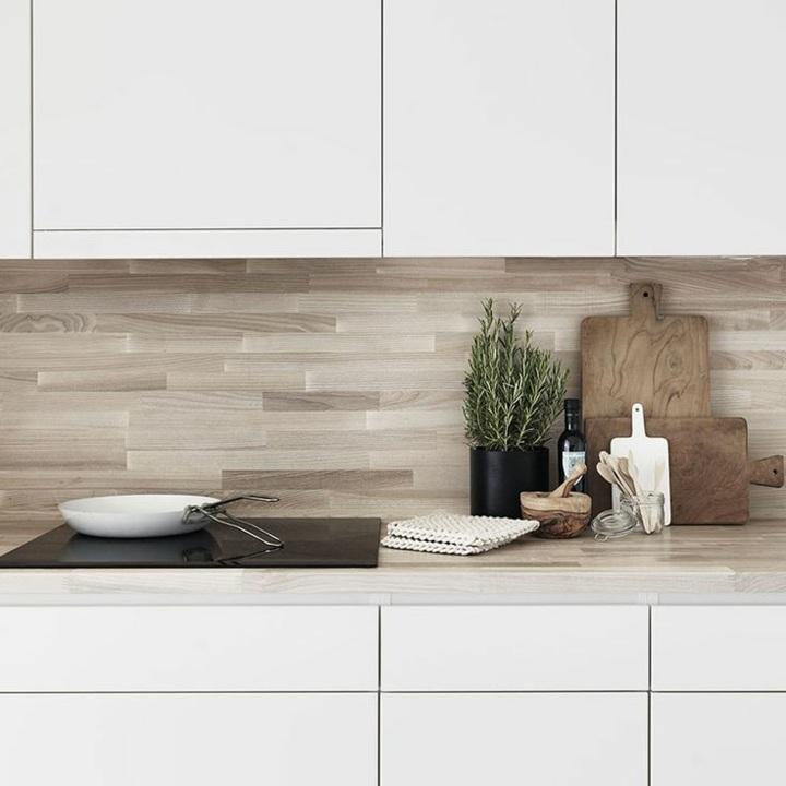 modelos de cocinas madera color blanco