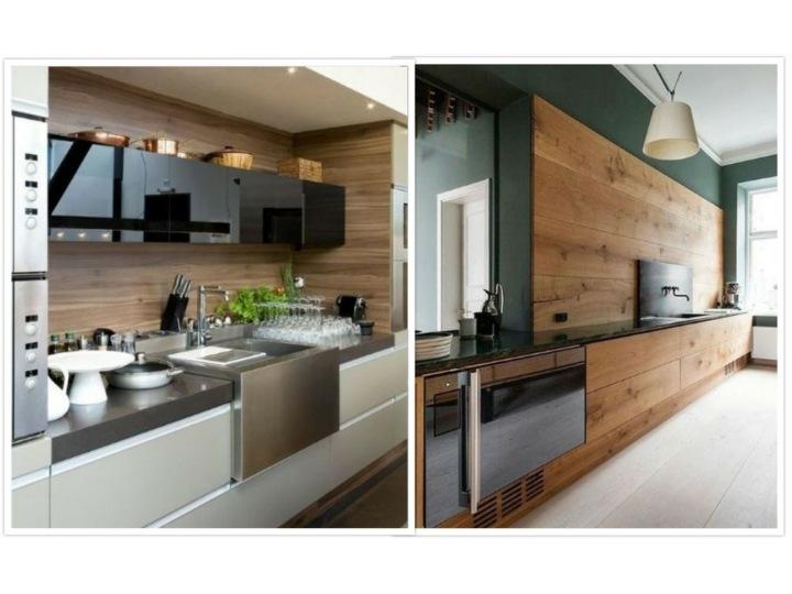 modelos de cocinas salpicaderos madera