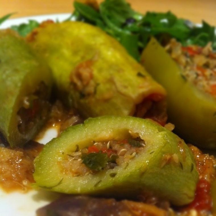 "MoFo Vegano: Quinoa rellena ""Mahshi"""